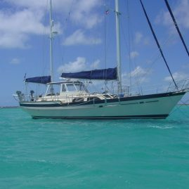 Caribbean Sailing Charters | Anchored inside a reef in The Grenadines