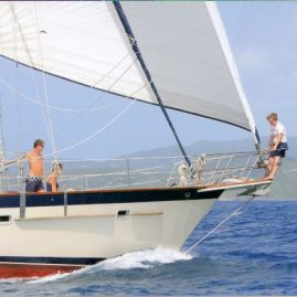 Caribbean Sailing Charters | Under way in the British Virgin Islands