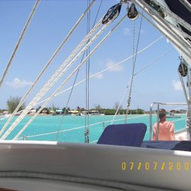 Caribbean Sailing Charters | Approaching BVI anchorage