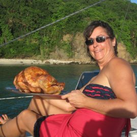 Caribbean Sailing Charters | BVI Thanksgiving turkey onboard