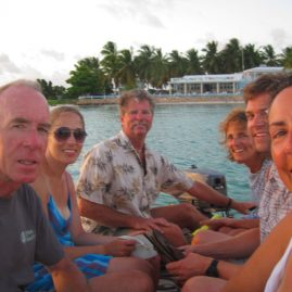 Caribbean Sailing Charters | dinghy to shore for dinner.