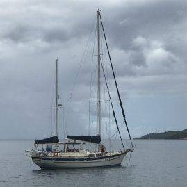 Caribbean Sailing Charters | Anchored off Martinique
