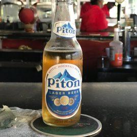 Caribbean Sailing Charters | Marigot Bay Saint Lucia - PIton beer