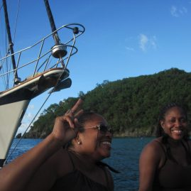 Caribbean Sailing Charters | Lora & Lorna enjoying the British Virgin Islands