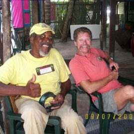 Ray & friend Foxy at Jost Van Dyke BVI