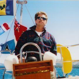 Caribbean Sailing Charters | Captain Ray on his other boat. Lake Tahoe NV
