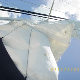 Caribbean Sailing Charters | Raising sails in US Virgin Islands