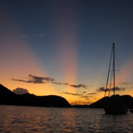 Caribbean Sailing Charters | Another beautiful US Virgin Island Sunset at Saint John USVI