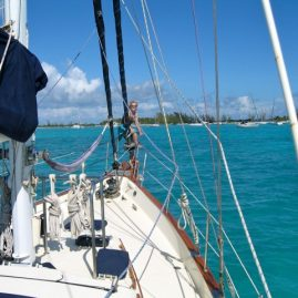 Caribbean Sailing Charters | approaching anchorage in British Virgin Islands