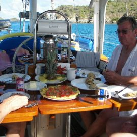 Caribbean Sailing Charters | Breakfast onboard in the British Virgin Islands