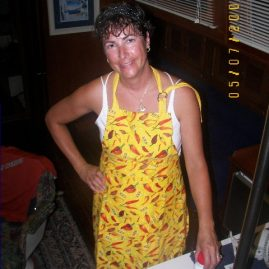Caribbean Sailing Charters | Jennifer cooking a big onboard meal in BVI