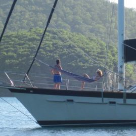 "Caribbean Sailing Charters | ""Seriously. It's my turn in the hammock"" (in British Virgin Islands)"