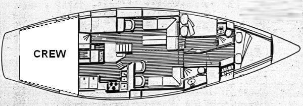 Caribbean Sailing Charters | Jalapeno interior layout