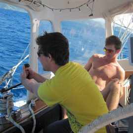 Caribbean Sailing Charters | Kevin trimming sails