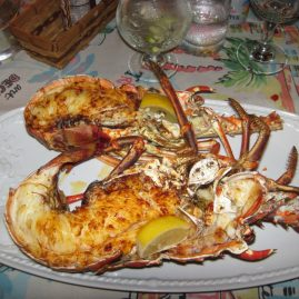 Caribbean Sailing Charters | Lobster dinner