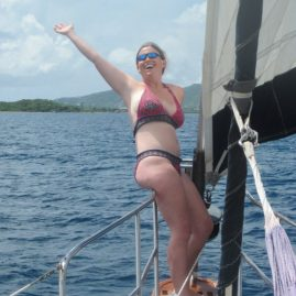Caribbean Sailing Charters | Victoria on the bow
