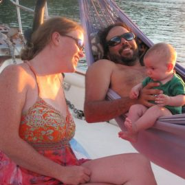 Caribbean Sailing Charters | Baby in a hammock BVI