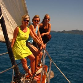 Caribbean Sailing Charters | Ladies on the bow